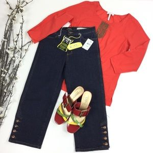 Laundry Tomato Red Peasant Top